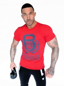Bullywear Pedigree Short Sleeved T Shirt Red SST6CREW