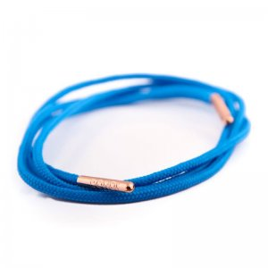 Bondi Laces Dress Laces Bondi Blue / Rose Gold Tips DRESBL3R