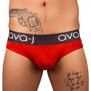 Ava-j Solid Jock Brief Jock Strap Underwear Pure Orange