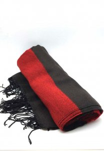 Spy Henry Lau Unisex Star & Stripe Wool Blend Scarf Red/Blac...