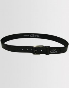 Kear&Ku Stitched Leather Belt Black