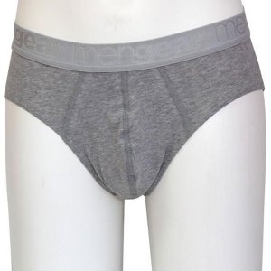 Minerva [2 Pack] Basic Slip Mini Meng Brief Underwear Dark Grey Melange 20521