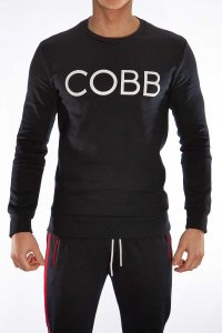 Alexander Cobb Sweeter Long Sleeved T Shirt Navy Blue SP02-22