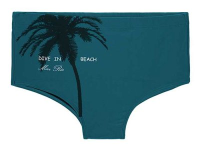 Mar Rio Dive In Beach Palm Tree Motif Sunga Square Cut Trunk...