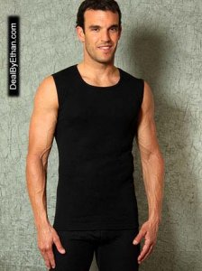 Doreanse Athlete Muscle Top T Shirt Black 2460