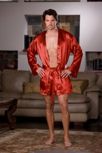 Dreamguy Charmeuse Robe Set Red 6279