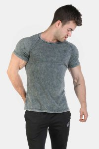 Jed North Haze Marble Vintage Short Sleeved T Shirt Grey JNTOP025