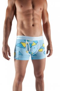 Sly Underwear Clouds Boxer Brief Underwear 0020001W