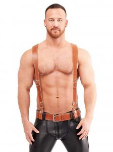 Mister B Leather Braces Belt Brown 410610