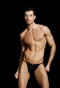 MaleBasics Zipper Thong Underwear Black MBL25