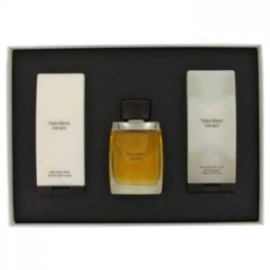 Vera Wang Eau DeToilette Spray + Hair & Body Wash + After Shave Balm Gift Set Men's Fragrance 456153