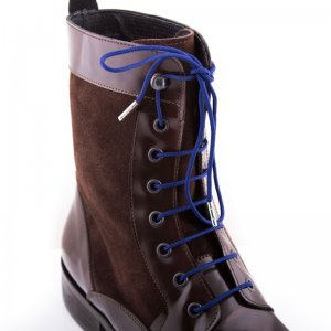 Bondi Laces Boot Laces Navy / Silver Tips BOOTBL4S
