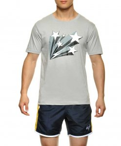 STUD Frankie Athletic Short Sleeved T Shirt Heather Grey