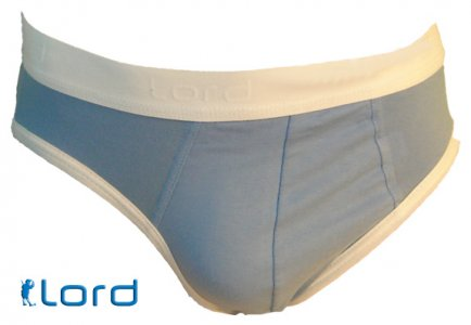 Lord Contrast Color Brief Underwear Light Blue 8118BLUE