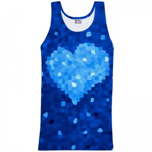 Mr. Gugu & Miss Go Glass Heart Unisex Tank Top T Shirt TT730