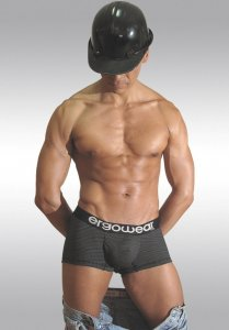 Ergowear Plus III InCopper Boxer Brief Underwear Black EPP309N