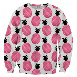 Mr. Gugu & Miss Go Pink Pineapple Unisex Sweater S-PC729