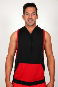 Pistol Pete Circuit Hoody Sleeveless Sweater Red MT176-130