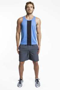 Jack Adams Race Tank Top T Shirt Sky Blue/Black 403-110