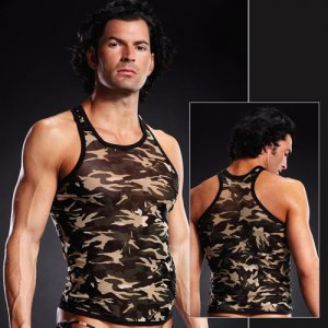 Blue Line Pro-Mesh Racer Back Tank Top T Shirt Camouflage BLM018