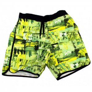 Lord Tropical Collage Boardshorts Beachwear Yellow MA006