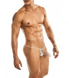 Miami Jock Ball Cup Thong Underwear White 40104