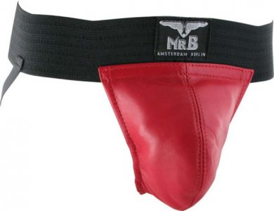 Mister B Two Bands Jock Strap Underwear Red 210730