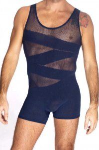 L'Homme Invisible Curio Seamless Bodysuit Navy FW01-049