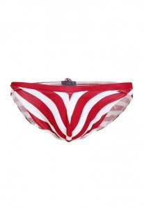 Spy Henry Lau Stripe 3D Bulge Bikini Swimwear Red/White SP788AA74CRTHK