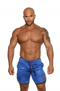 Black Unicorn Core Trainer Athletic Shorts Blue BU068