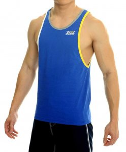 STUD Athletic Ralf Tank Top T Shirt Blue