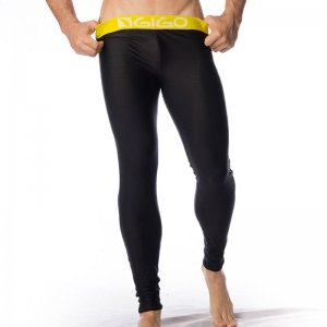 Gigo BLACK/YELLOW Lycra Long Pants G18045