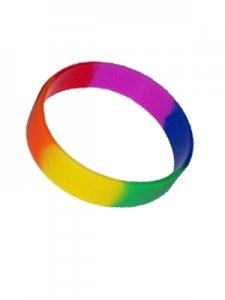 DBE [12 Pack] Pride Silicone Armband Rainbow