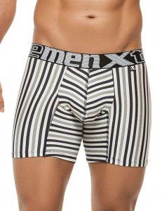 Xtremen Stripe Microfiber Boxer Brief Underwear Grey 51384