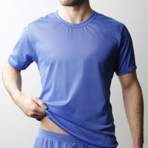 Players Nylon Tricot Short Sleeved T Shirt Royal Blue