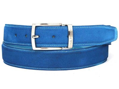 Paul Parkman Belt Blue Suede B06-BLU