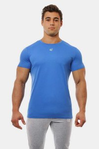 Jed North Microfiber Dri Fit Short Sleeved T Shirt Blue JNTOP032