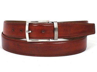Paul Parkman Hand Painted Leather Belt Reddish Brown B01-RDH
