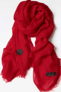 L'Homme Invisible Regal Pachemina Ultrafine Scarf Red