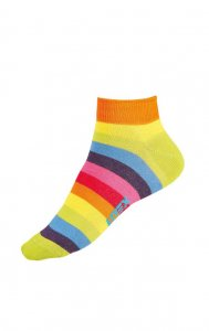 Litex Designer Stripe Ankle Socks 99675