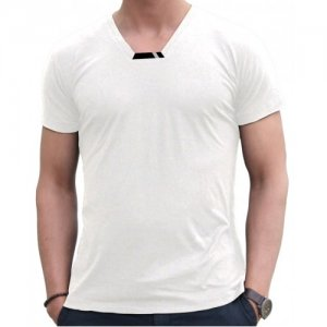 Blunt Neck Luxe Short Sleeved T Shirt White R-M-SS-WH