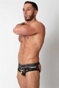 CellBlock 13 Commando Slingback Jock Brief Jock Strap Underwear Camouflage/Black CBU065