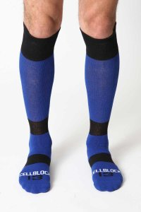 CellBlock 13 Roll Over Knee High Socks Blue A040