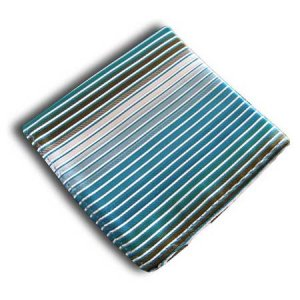 Distino Of Melbourne Stripe Pocket Square Handkerchief Teal PSTEAL