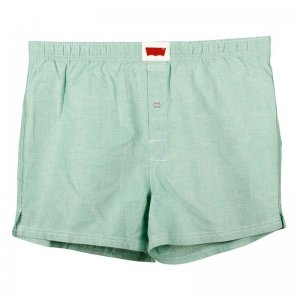 Levi's Classy Oxford Woven Cotton Loose Boxer Shorts Underwear Green