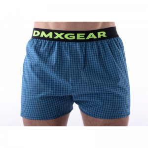 DMXGEAR Tartan Luxury Loose Boxer Shorts Underwear Blue DMX18TA06