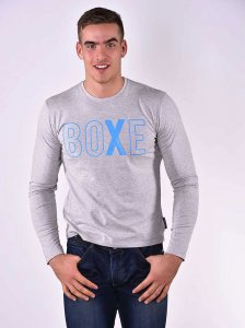 Roberto Lucca BOXE Slim Fit Long Sleeved T Shirt Grey Melang...