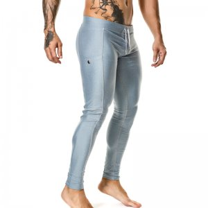 Gigo POCKET GREY Leggings Lycra Long Pants L18180