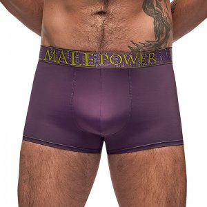 Male Power Avant-Garde Enhancer Shorts Boxer Brief Underwear Eggplant 150-249