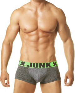 Junk Underjeans Smoke Trunk Underwear Grey/Green MB20030